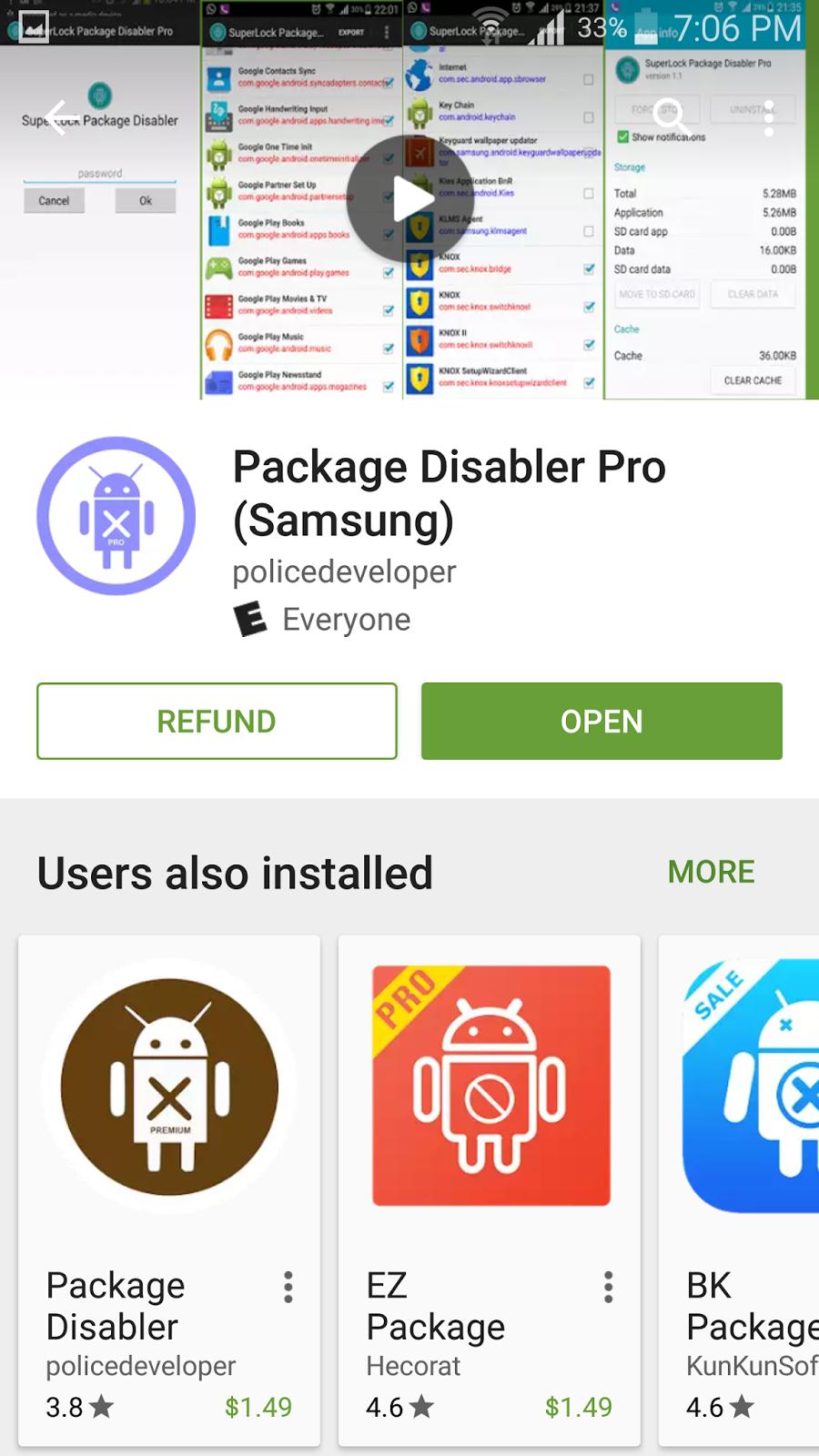 تطبيق Package Disabler لحذف التطبيقات الاساسية بدون روت | بحرية درويد