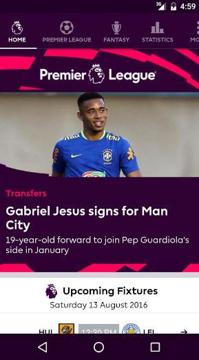 اطلاق اول تطبيق لمتابعة اخبار الدوري الانجليزي لكرة القدم | بحرية درويد