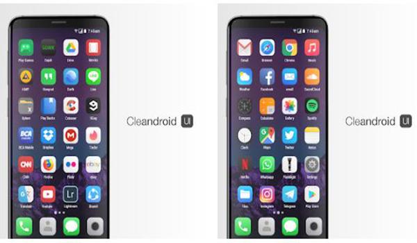 Cleandroid UI لتحويل شكل الاندرويد الى ايفون