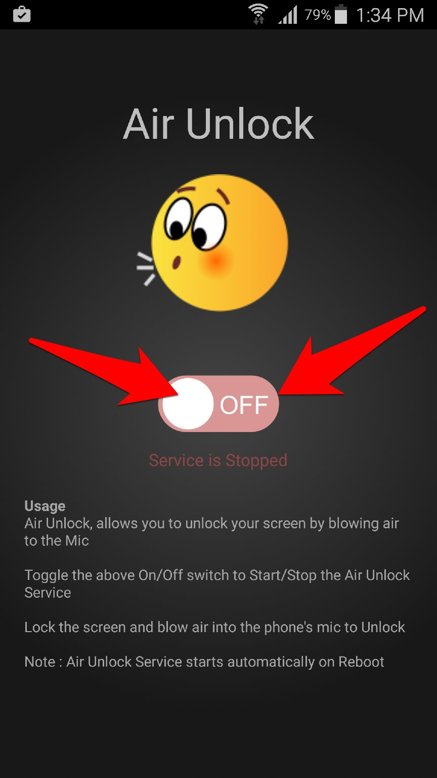 تطبيق Air Unlock لتشغيل شاشة جوالك بمجرد النفخ عليه | بحرية درويد