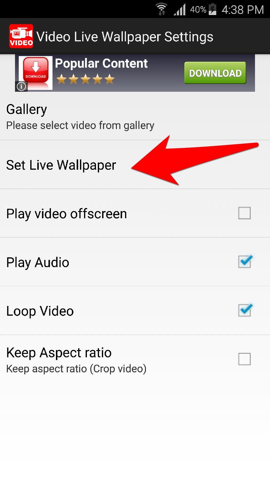 تطبيق عجيب سيمكنك من تعيين اي فيديو على جوالك كخلفية متحركة للشاشة   بحرية درويد