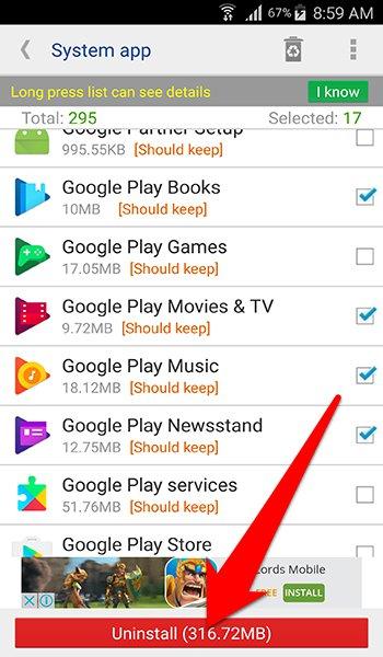 تطبيق System app remover لحذف التطبيقات الاساسية من الاندرويد للابد | بحرية درويد