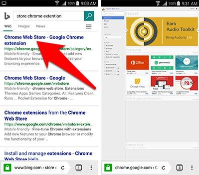 شرح طريقة تحميل اضافات جوجل كروم chrome Extensions على جوالك الاندرويد | بحرية درويد
