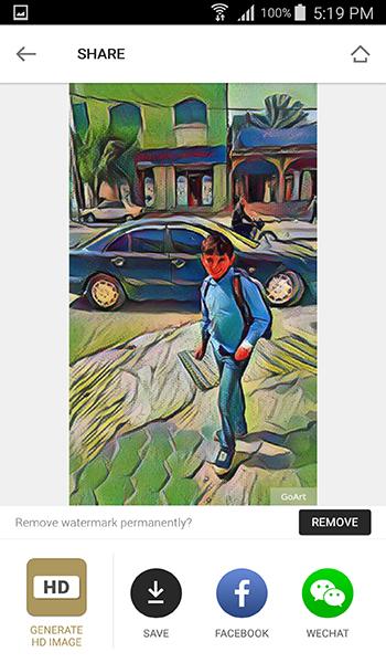 حول الصور على جوالك الى صور مرسومة بايدي محترفين من خلال تطبيق GoArt | بحرية درويد