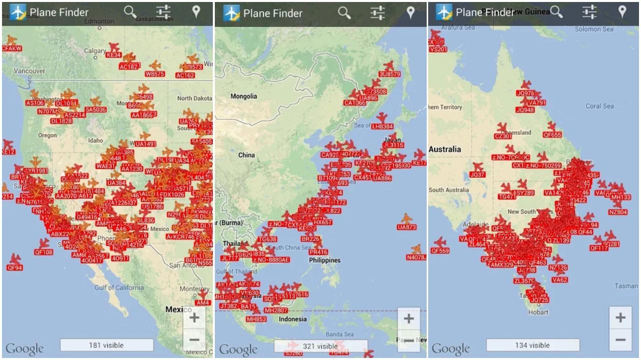 اكتشف وجهة سفر أي طائرة مع التطبيق المجاني Plane Finder Lite | بحرية درويد