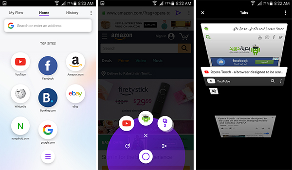 تعرف على اهم مزايا متصفح اوبرا الجديد Opera Touch | بحرية درويد