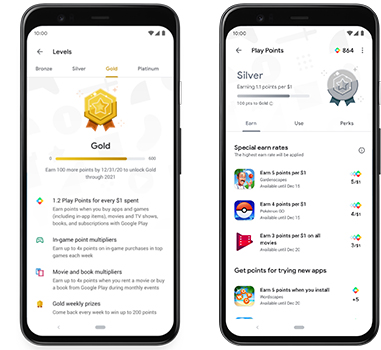 جوجل بلاي تطلق Play Points لربح النقاط مقابل مشترياتك من متجرها | بحرية درويد