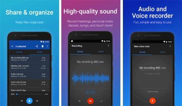 تطبيق Easy Voice Recorder واحد من افضل تطبيقات تسجيل الصوت