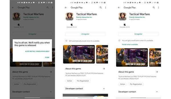 جوجل بلاي تضيف ميزة تحميل تطبيقات والعاب التسجيل المسبق لحظة اصدارها